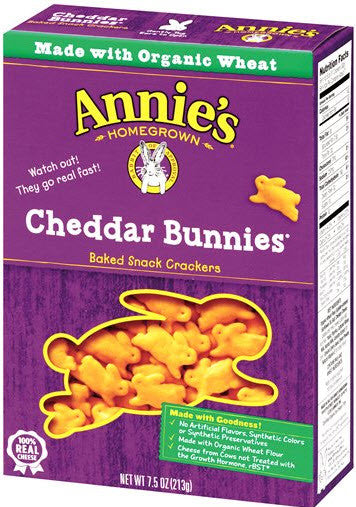 Annie's Homegrown Cheddar Bunnies: 12 boxes