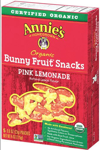 Annie's Homegrown Organic Pink Lemonade Fruit Snacks