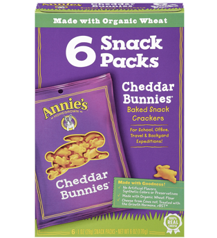 Annie's Homegrown Cheddar Bunnies 1oz - Snack Pack