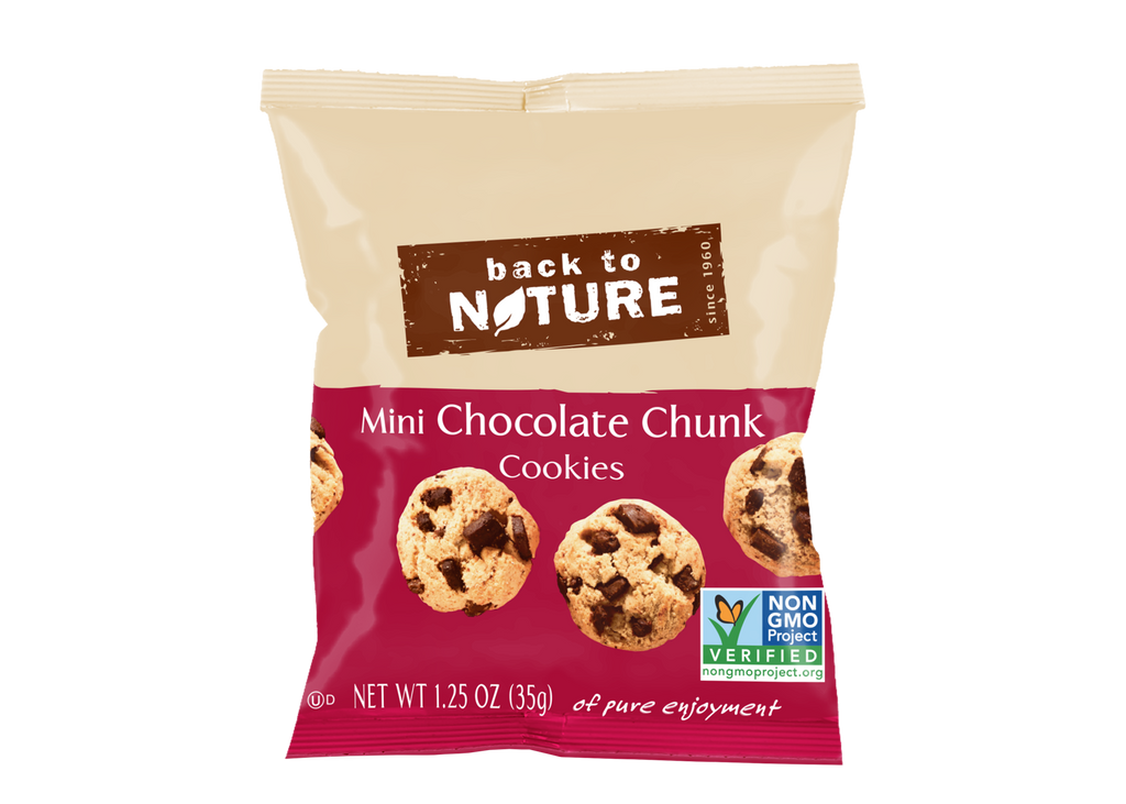 Back To Nature Mini Chocolate Chunk Cookies - Snack Pack: 24 Bags