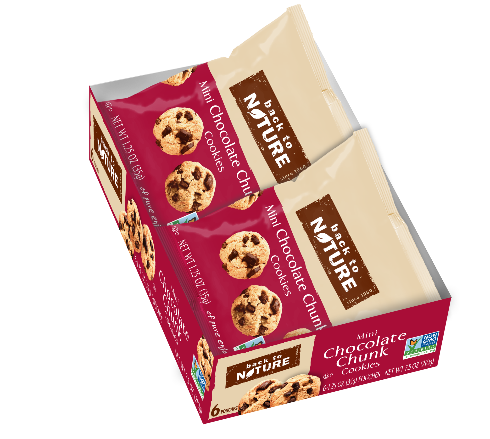 Back To Nature Mini Chocolate Chunk Cookies - Snack Pack: 100 bags