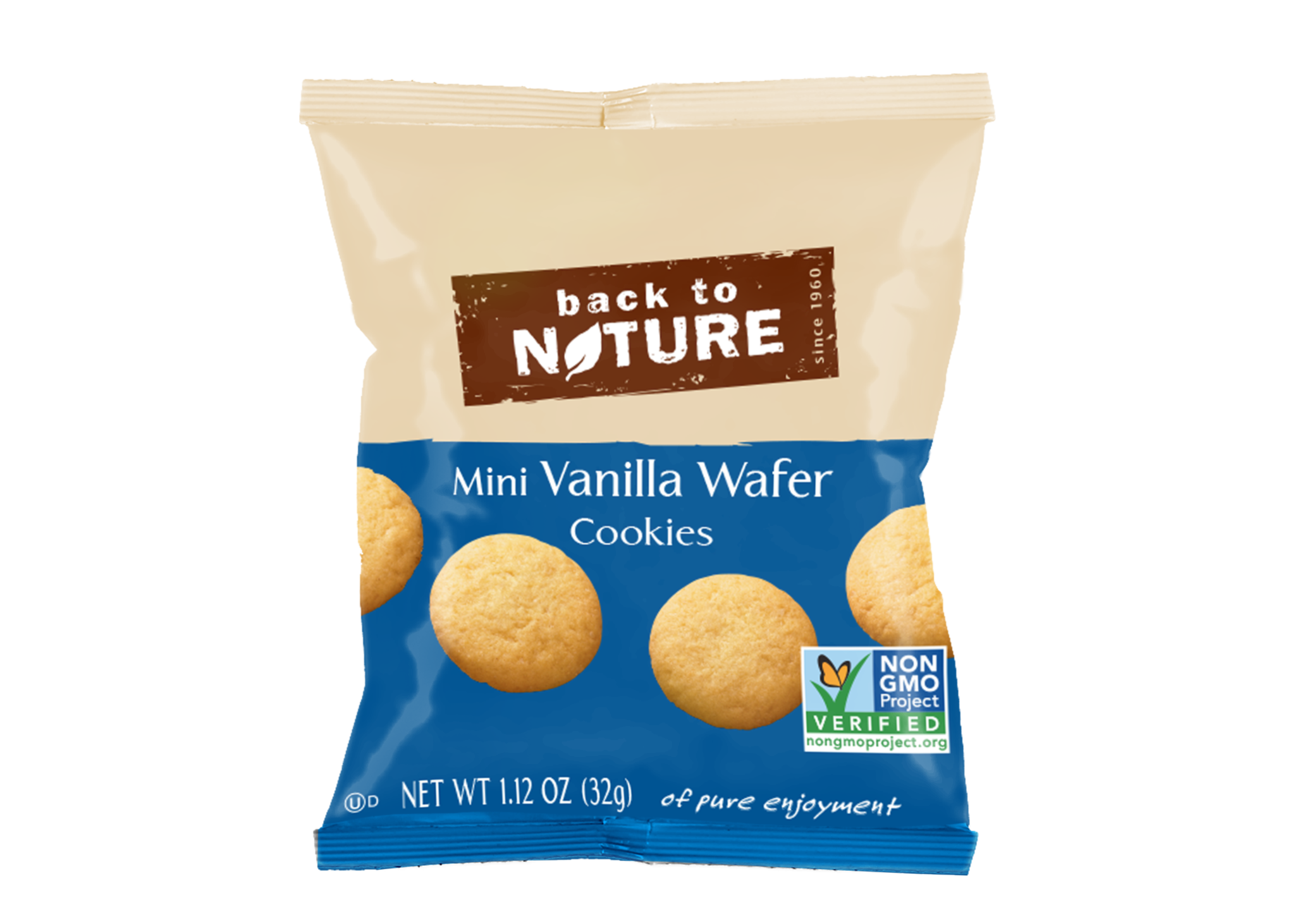 Back To Nature Mini Vanilla Wafers - Snack Pack: 24 bags