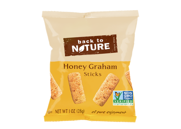 Back To Nature Mini Honey Graham Sticks - Snack Pack: 32 bags