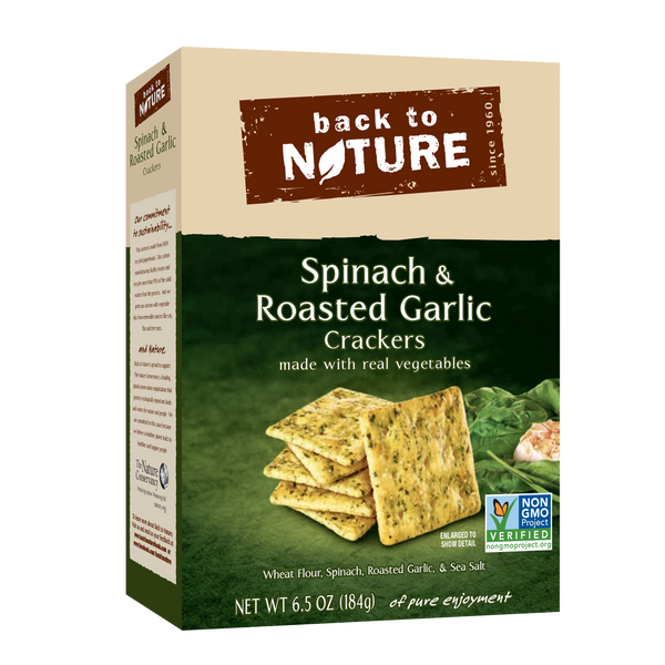Back To Nature Spinach & Roasted Garlic Crackers