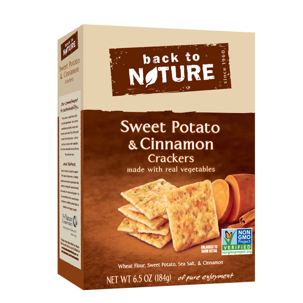 Back To Nature Sweet Potato & Cinnamon Crackers