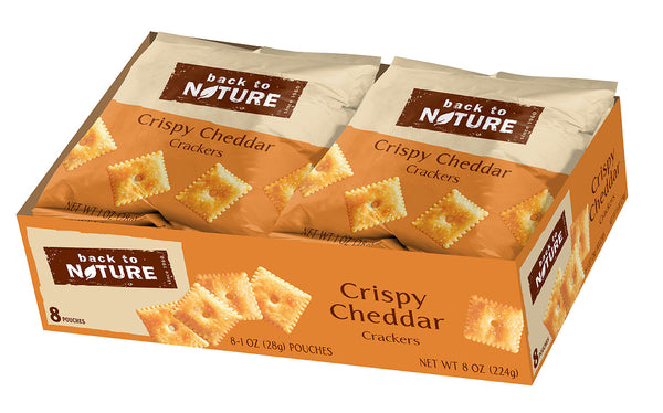 Back To Nature Crispy Cheddar Crackers - Snack Pack: 32 bags