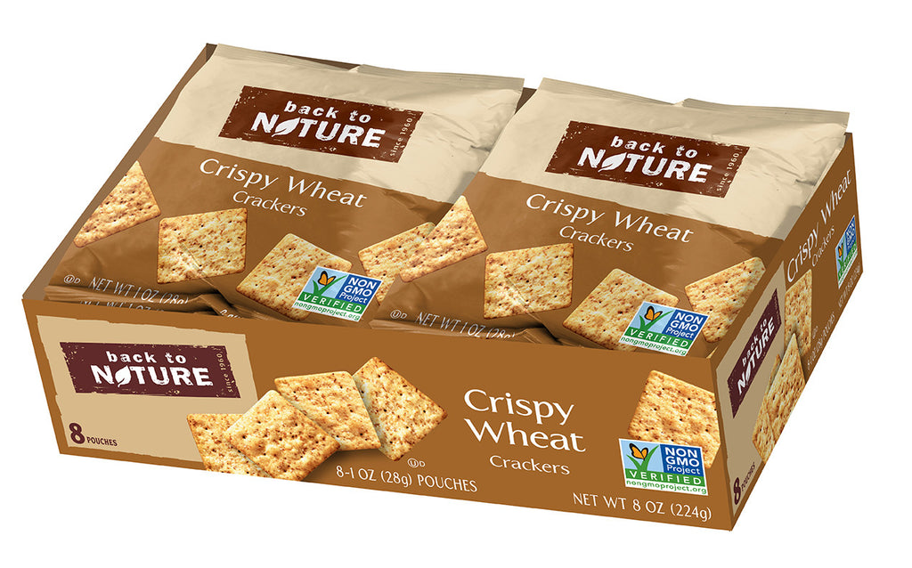 Back To Nature Crispy Wheat Crackers - Snack Pack: 32 bags