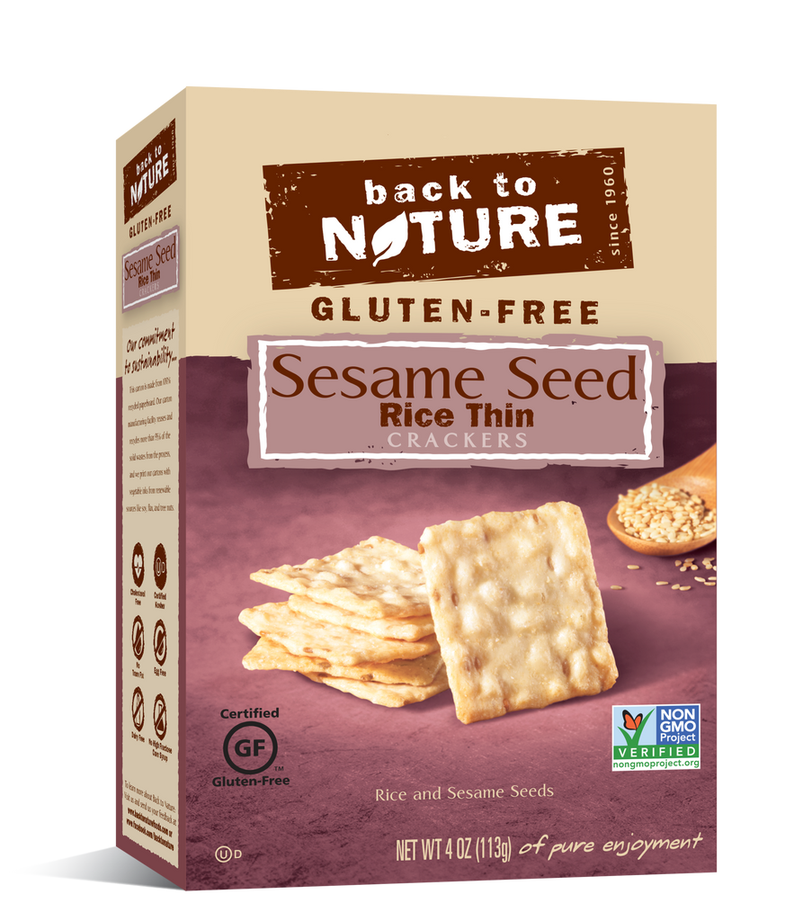 Back To Nature Sesame Seed Rice Thin Crackers (Gluten Free)
