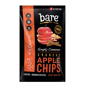 Bare Fruit All Natural Crunchy Apple Chips Simply Cinnamon Snack Pack