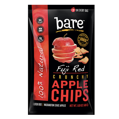 Bare Fruit All Natural Crunchy Apple Chips Fuji Red - Snack Pack