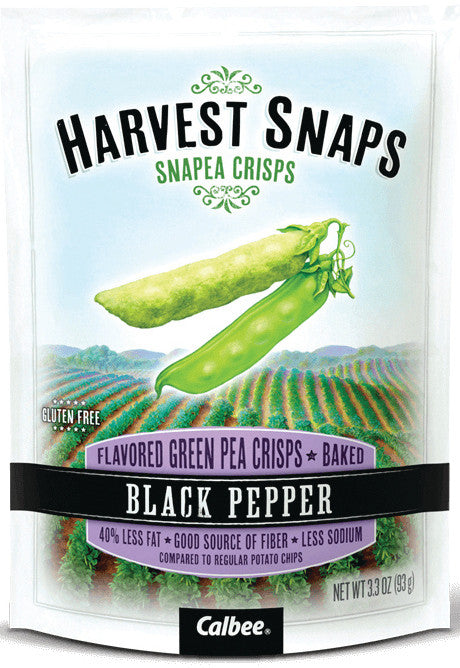 Harvest Snaps Black Pepper Snapea Crisps