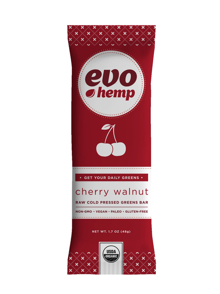 Evo Hemp Organic Hemp Bars - Cherry Walnut Greens