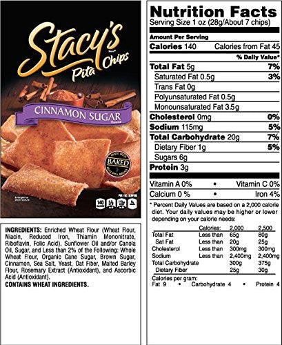 Stacy's Cinnamon Sugar Pita Chips Snack Pack: 24 bags