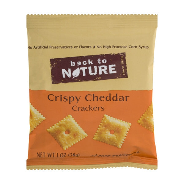 Back To Nature Crispy Cheddar Crackers - Snack Pack: 100