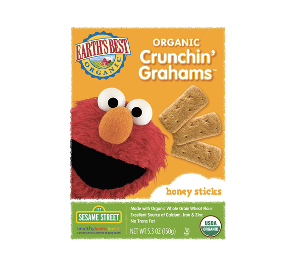Earth's Best Organic Sesame Street Honey Crunchin' Grahams