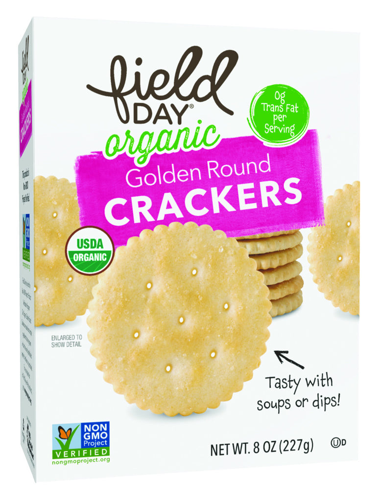 Field Day Crackers Organic Golden Round Crackers