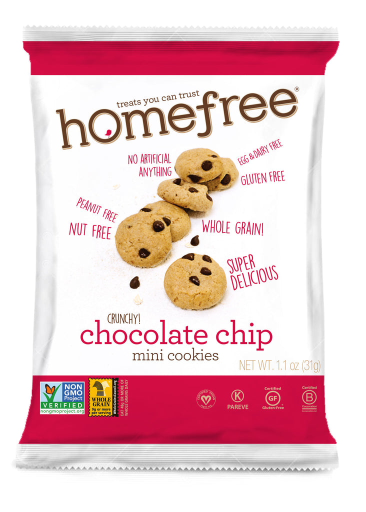 Homefree Mini Chocolate Chip Cookies: 10 bags