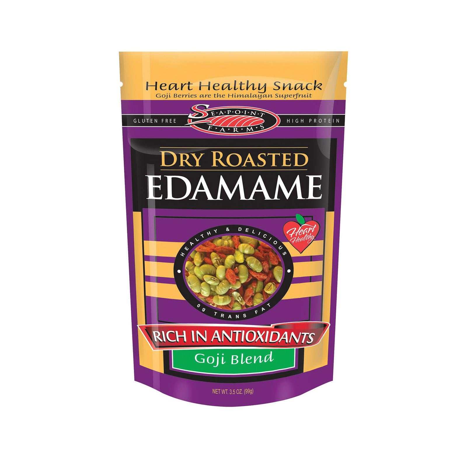 Seapoint Farms Dry Roasted Edamame Goji Blend