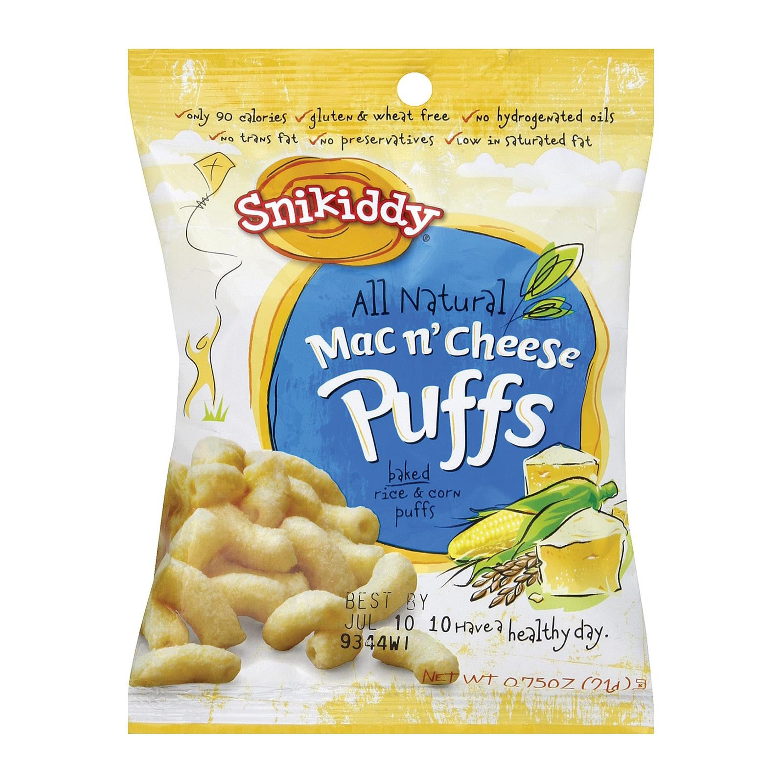 Snikiddy Snacks All Natural Mac n Cheese Puffs