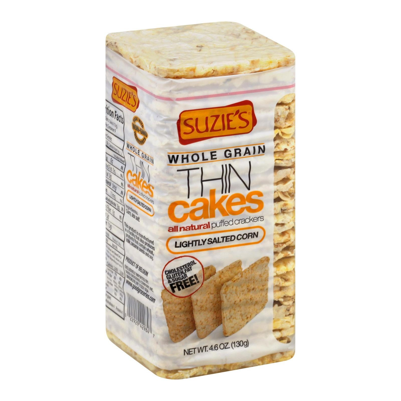 Suzie's Whole Grain Salted Puff Corn Cake Thin Cakes