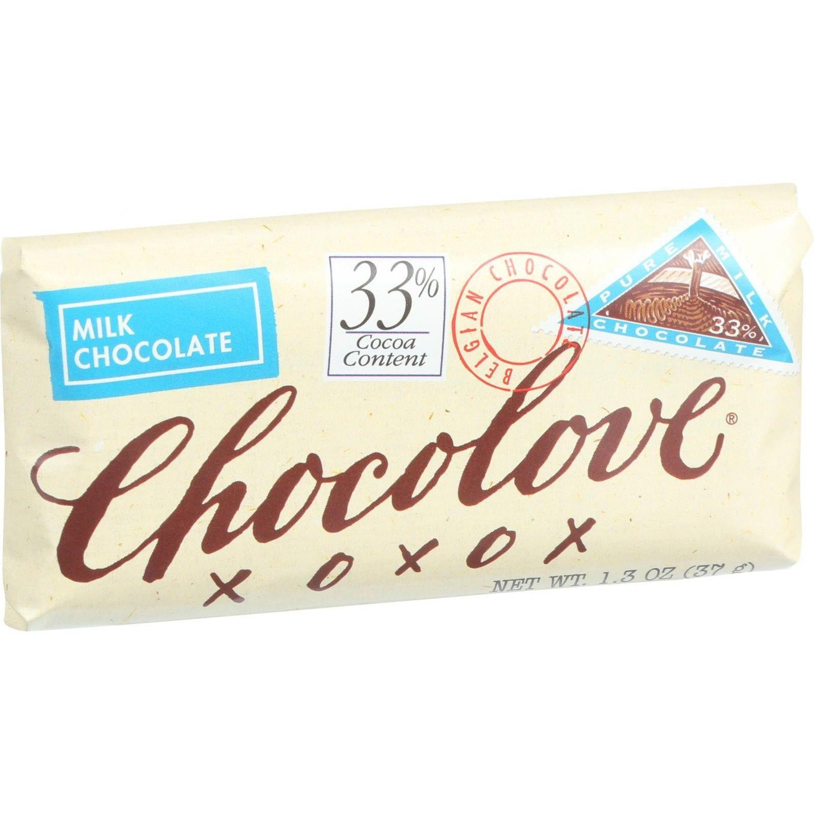 Chocolove xoxox Mini Bars - Pure Milk Chocolate