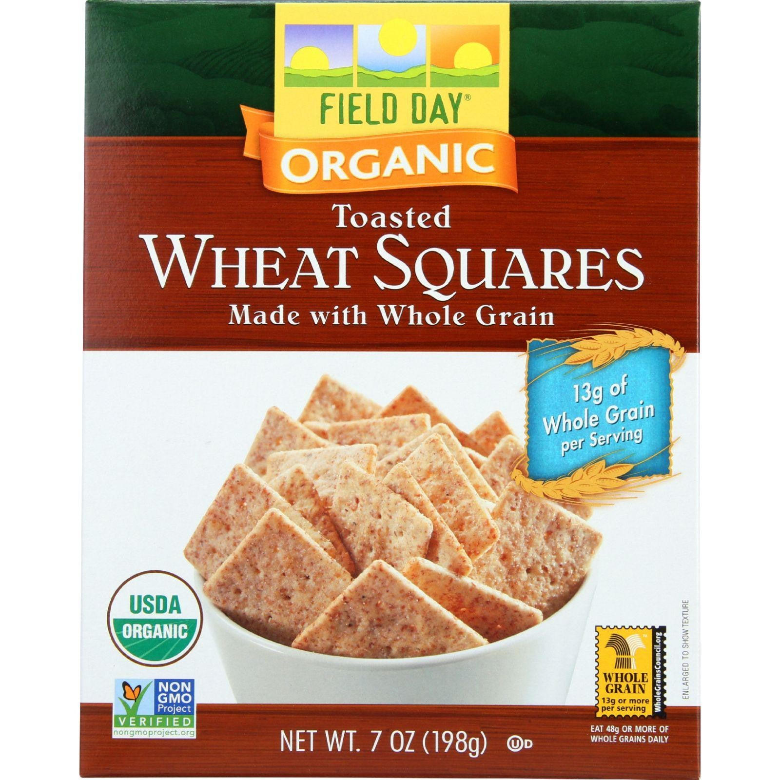 Field Day Crackers Organic Toasted Wheat Squares