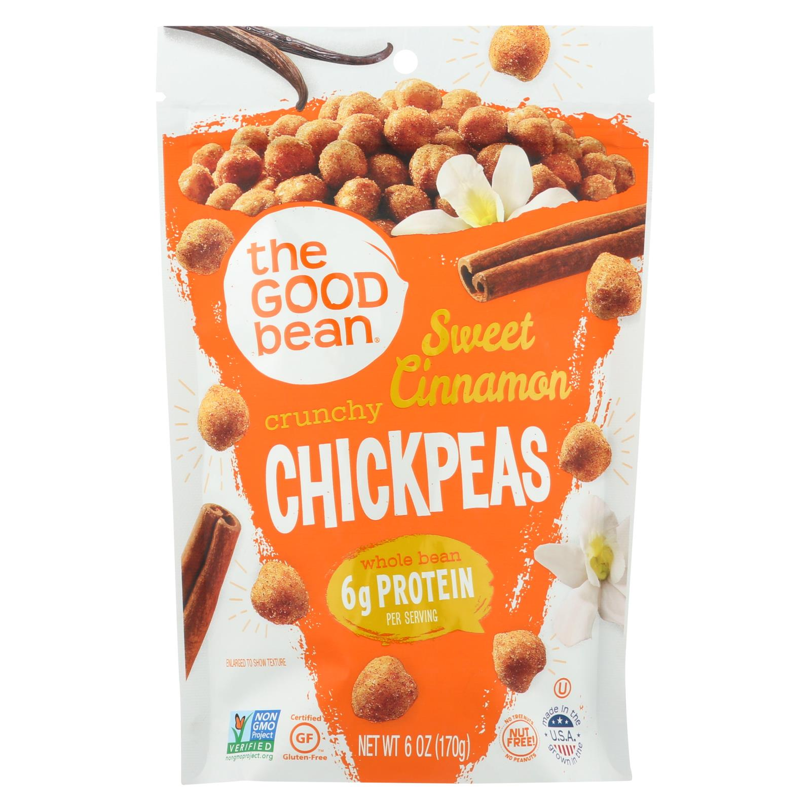 The Good Bean - Sweet Cinnamon Crunchy Chickpeas