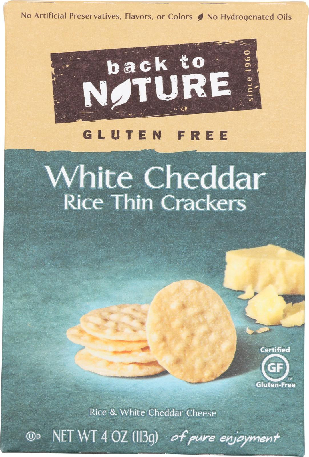 Back To Nature White Cheddar Rice Thin Crackers (Gluten Free)