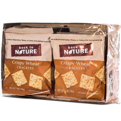 Back To Nature Crispy Wheat Crackers - Snack Pack: 100