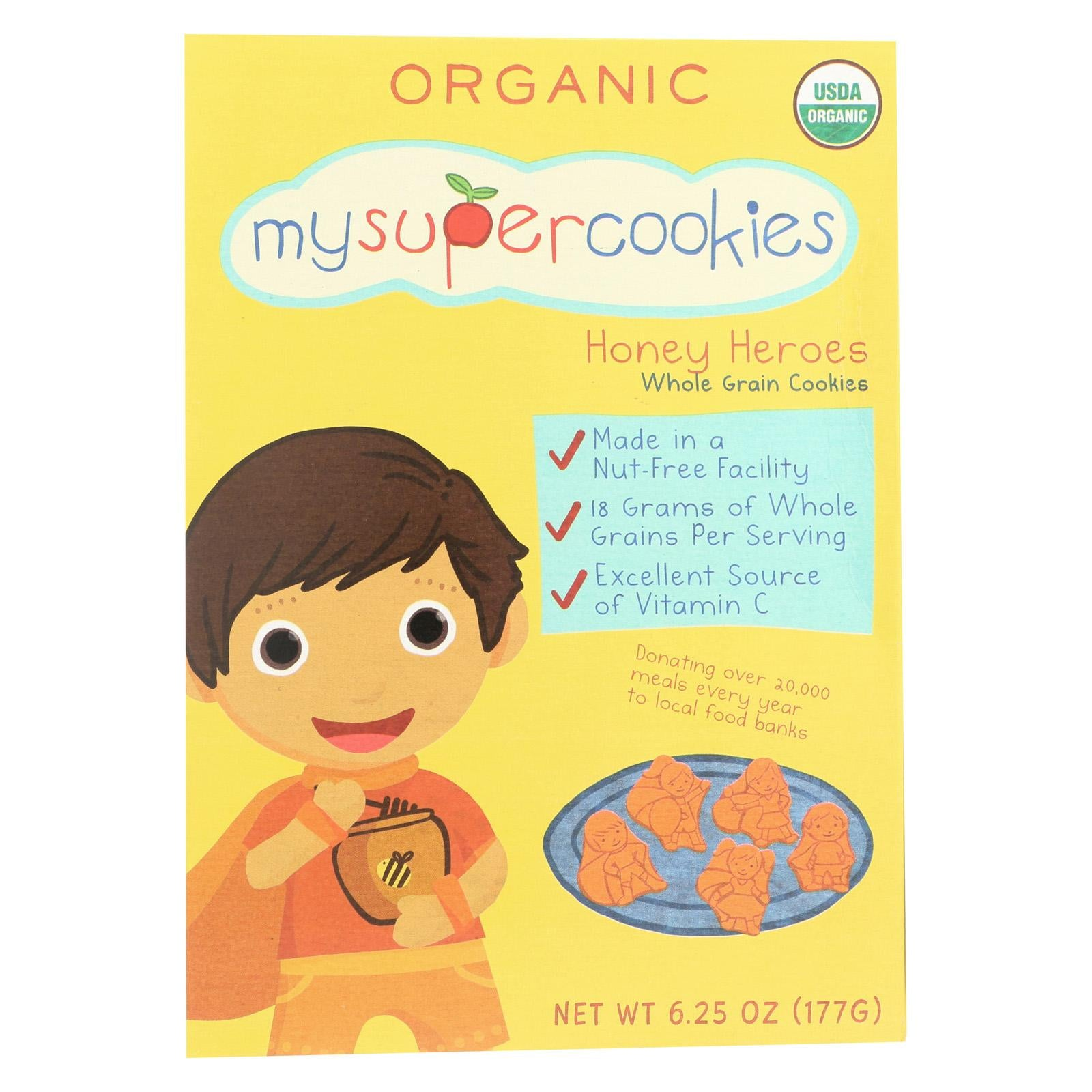 MySuperCookie Organic Honey Hero Cookies