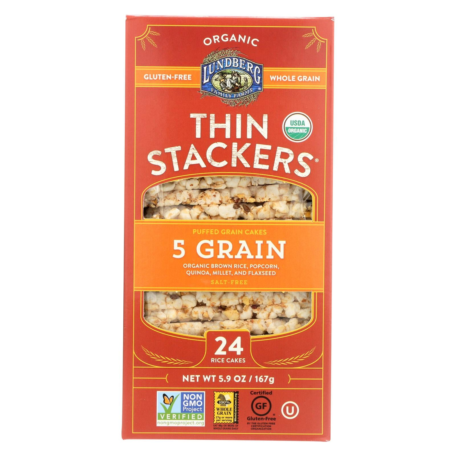 Lundberg Family Farms Rice Cake Five Grain