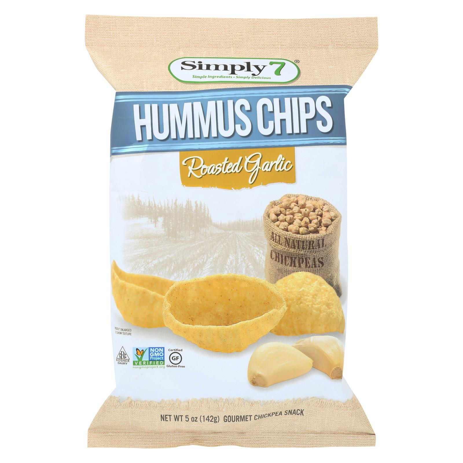 Simply 7 Hummus Chips Roasted Garlic