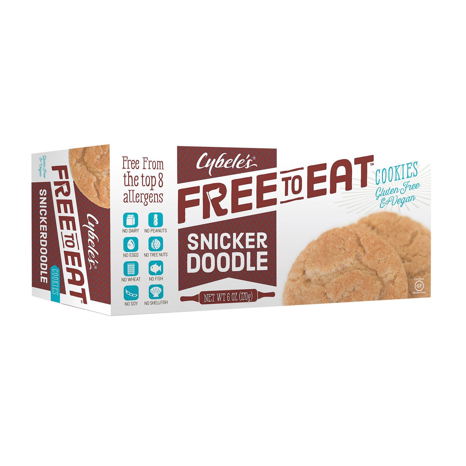 Cybele's Free to Eat Cookies - Snickerdoodle