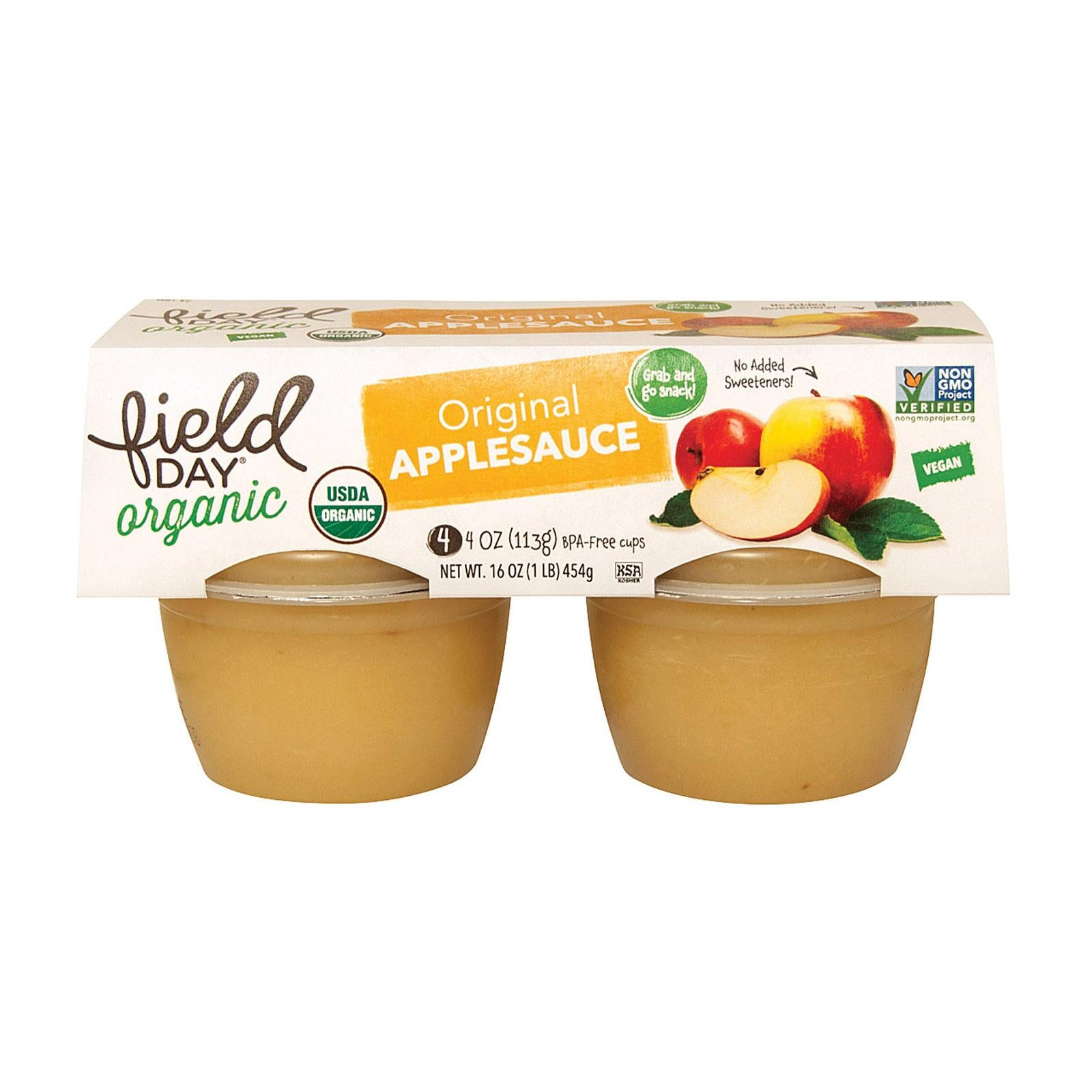 Field Day Organic Applesauce Cups
