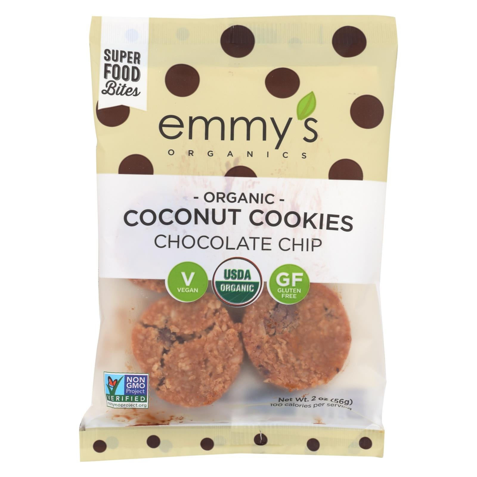 Emmy's Organics Chocolate Chip Coconut Cookies