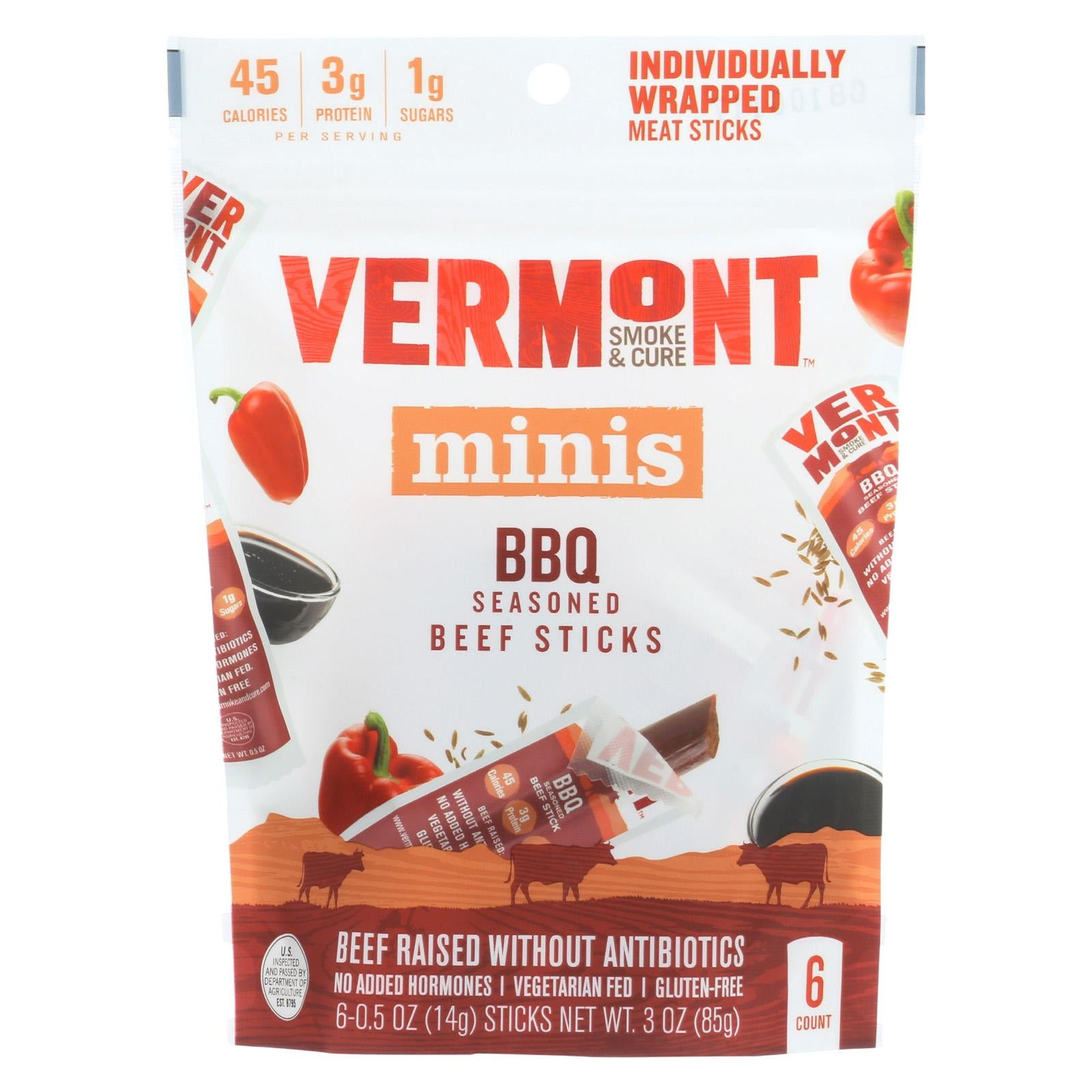 Vermont Smoke & Cure BBQ Beef Mini Sticks