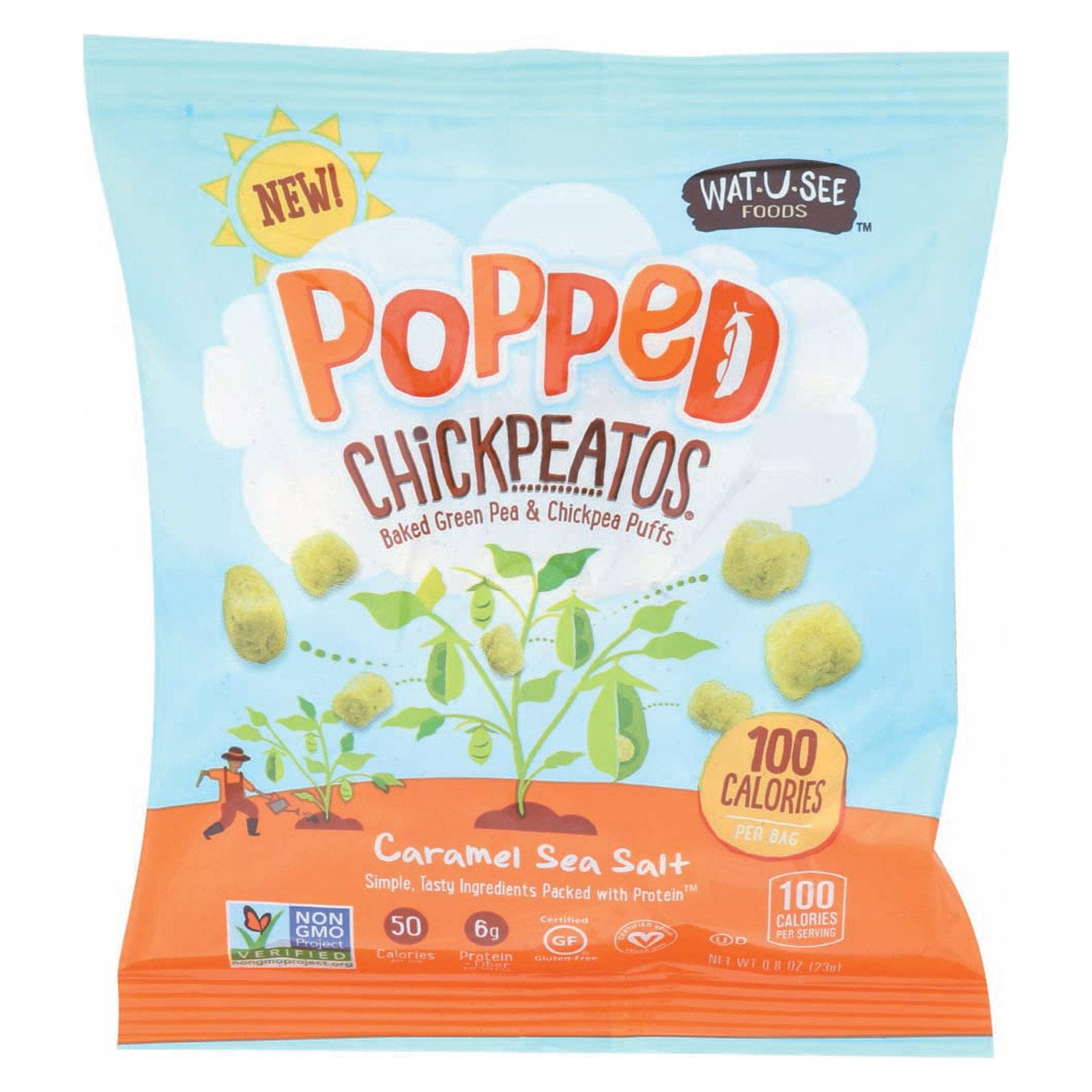 Wat U See Popped Chickpeatos - Caramel Sea Salt