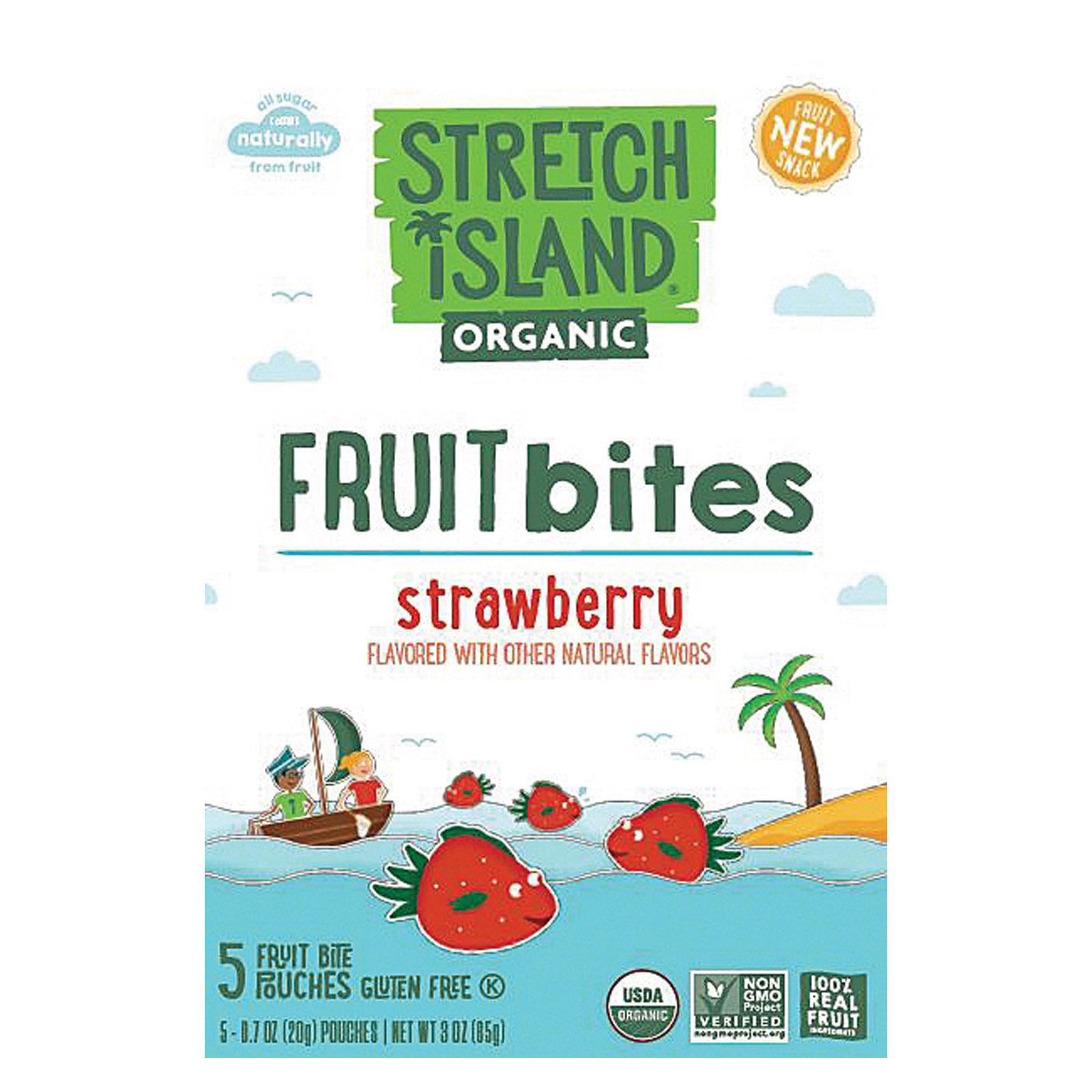 Stretch Island Organic Fruit Bites - Strawberry
