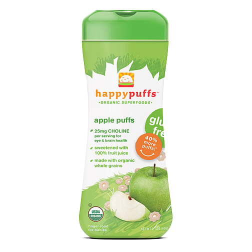 Happy Baby Organic Puffs - Apple