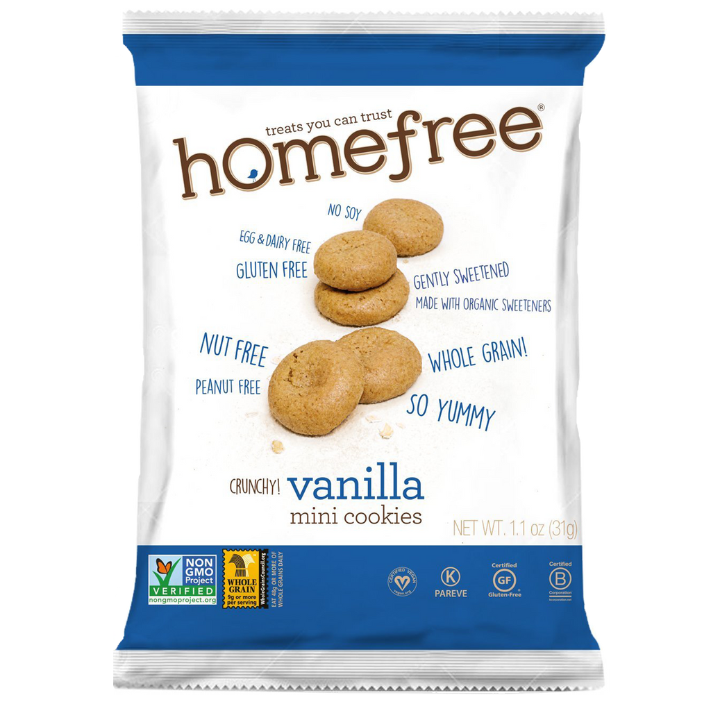 Homefree Mini Vanilla Cookies: 10 bags
