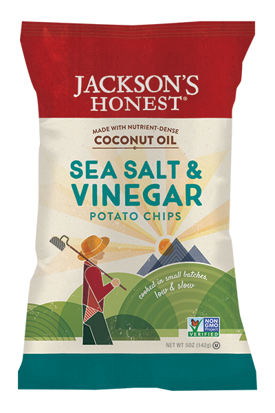 Jackson's Honest Salt & Vinegar Potato Chips - Snack Pack