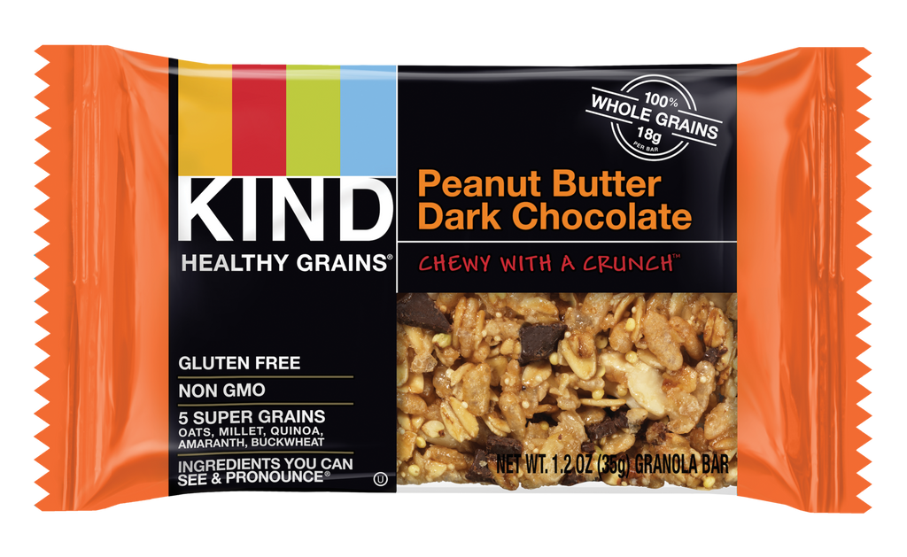KIND Peanut Butter Dark Chocolate Healthy Grain Bar