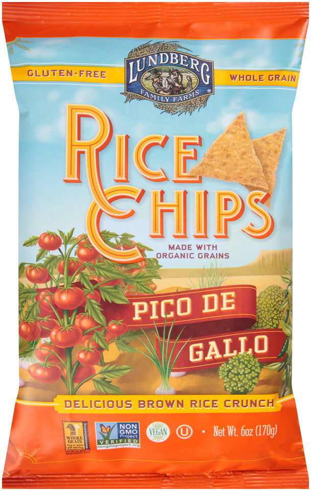 Lundberg Family Farms Multigrain Rice Chips Pico de Gallo