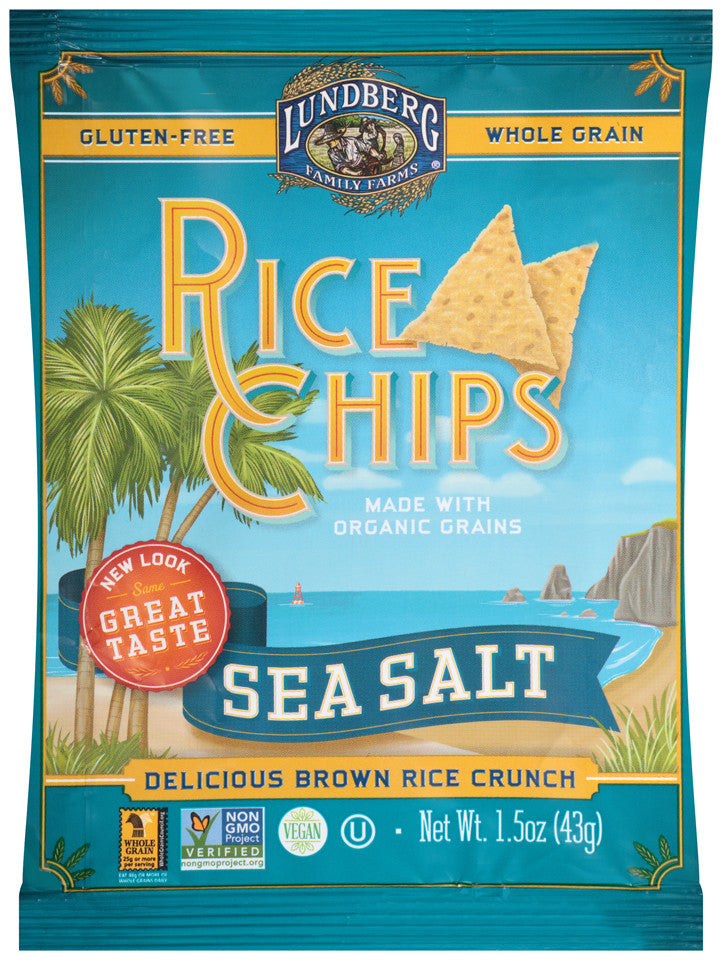 Lundberg Family Farms Multigrain Rice Chips Sea Salt: 24 bags