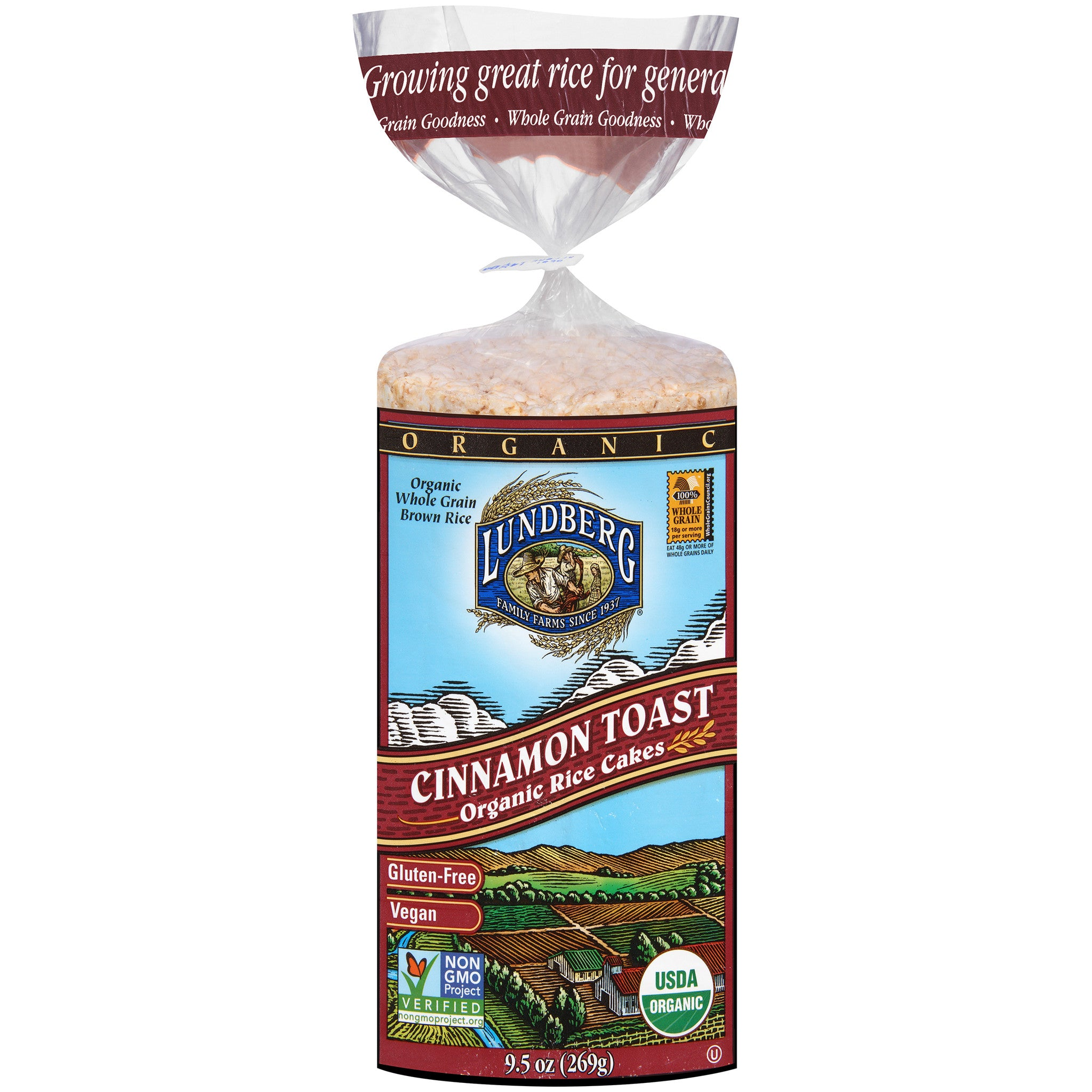 Lundberg Family Farms Rice Cake Cinnamon Toast