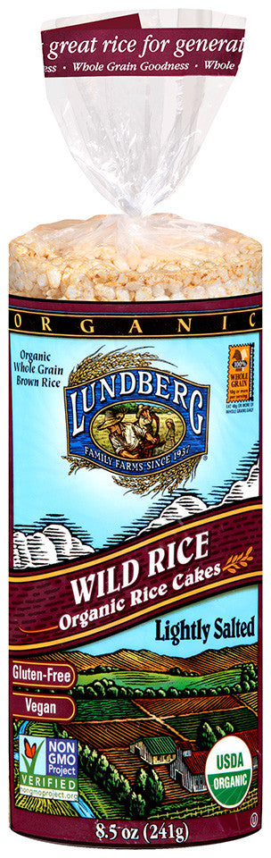Lundberg Family Farms Rice Cake Lightly Salted Wild Rice