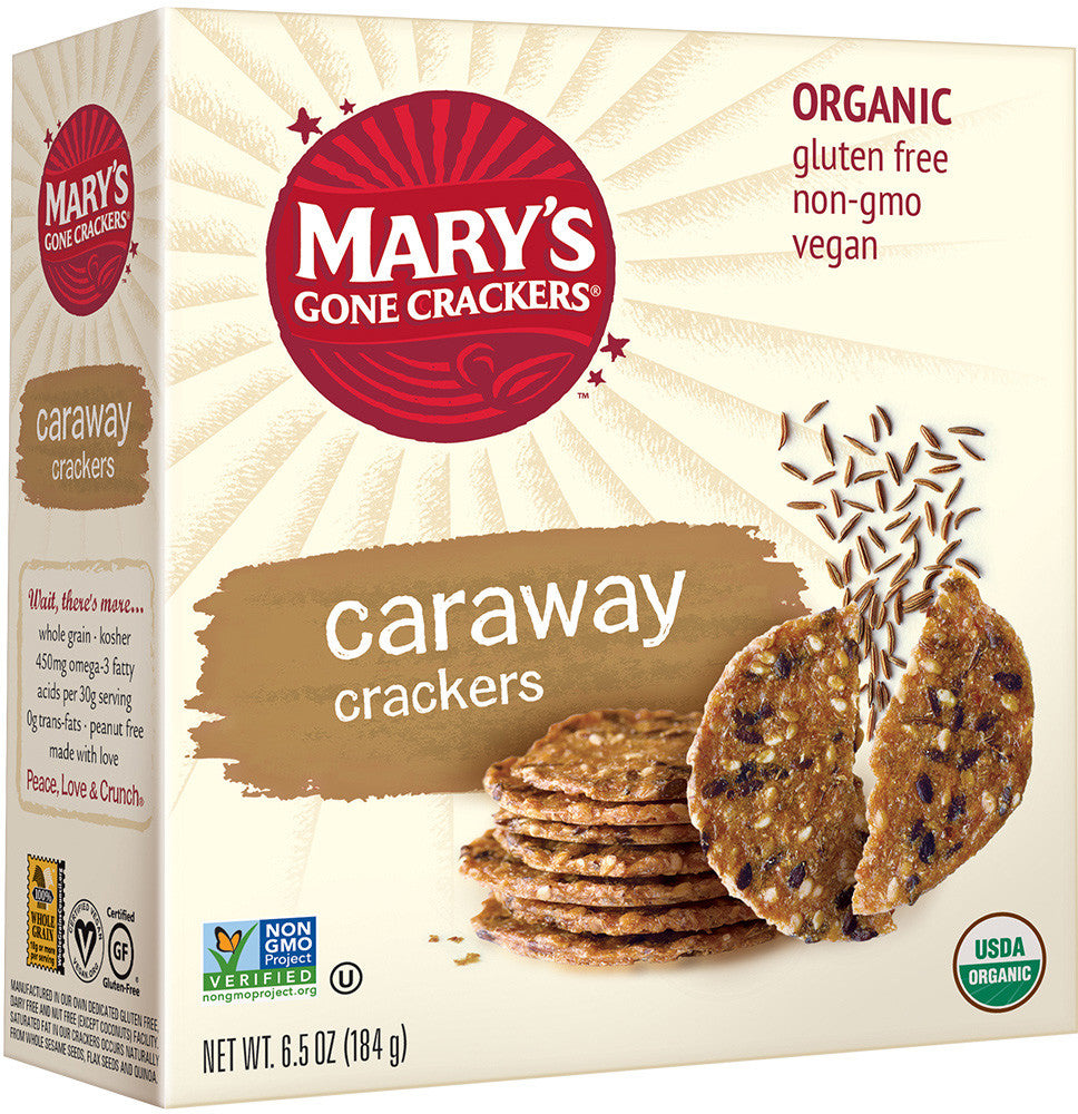 Mary's Gone Crackers Organic Caraway Crackers (Gluten Free)