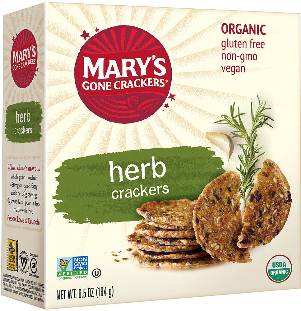 Mary's Gone Crackers Organic Herb Crackers (Gluten Free)