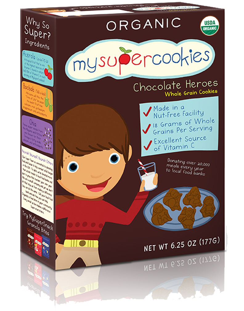 MySuperCookie Organic Chocolate Hero Cookies