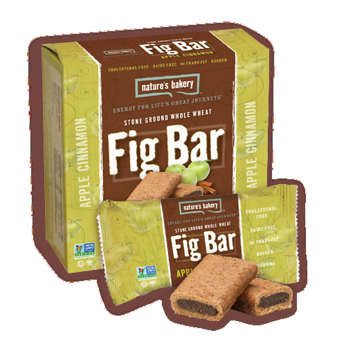 Nature's Bakery Stone Ground Whole Wheat Fig Bar - Apple Cinnamon: 12 bars